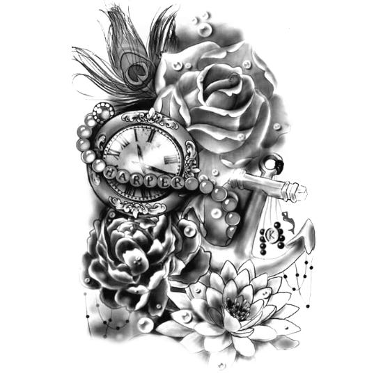 Wzór Tatuażu Czas Monika Wypożyczalnia Sprzętu